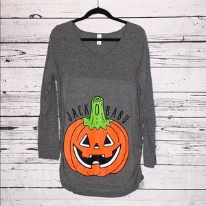 Air Waves 2XL Jack O' Baby Halloween Maternity Top